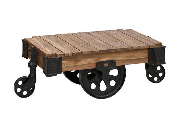 アクメファニチャーの車輪付きローテーブル