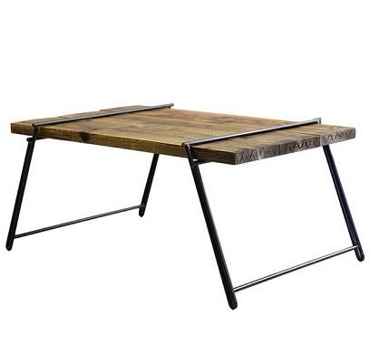 古材を使ったキャンプテーブル