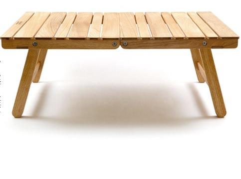 くるみを使ったキャンプテーブル