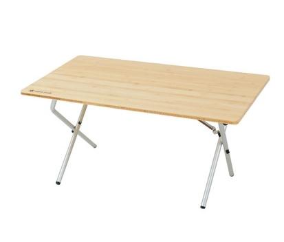 竹を使ったキャンプテーブル