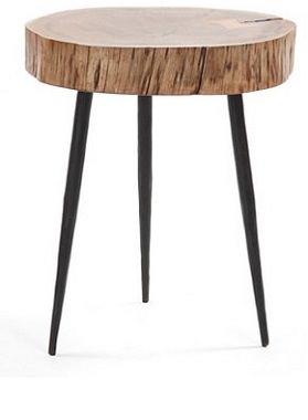 丸太を使ったサイドテーブル