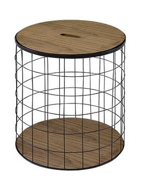 鳥籠のようなサイドテーブル