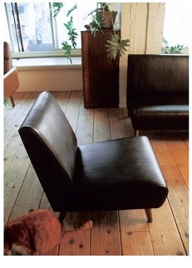 ナラ無垢材のソファ