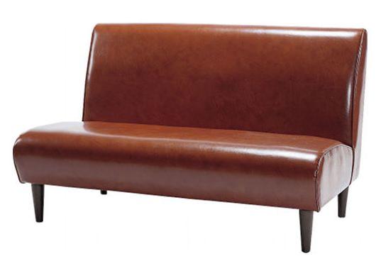 赤茶色い王道ソファ