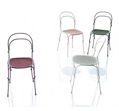 蔓で巻いたおしゃれな椅子