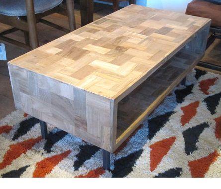 箱のようなローテーブル