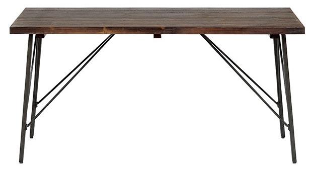 シンプルな古材テーブル
