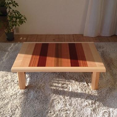 6色材の折り畳みこたつテーブル