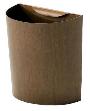 ウォールナットのおしゃれなデザインのゴミ箱