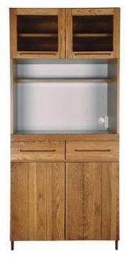 オーク無垢材の食器棚