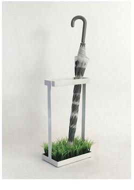 植物付きのアンブレラスタンド