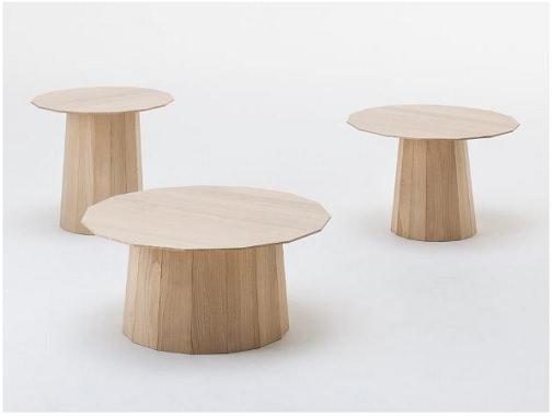 栗製サイドテーブル