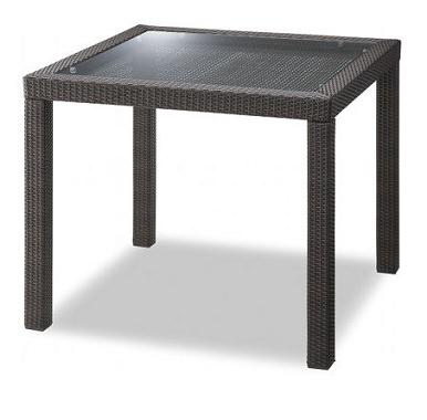 アルミ製の珍しいテーブル