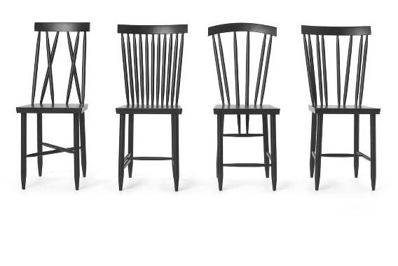 ブナを使用した椅子