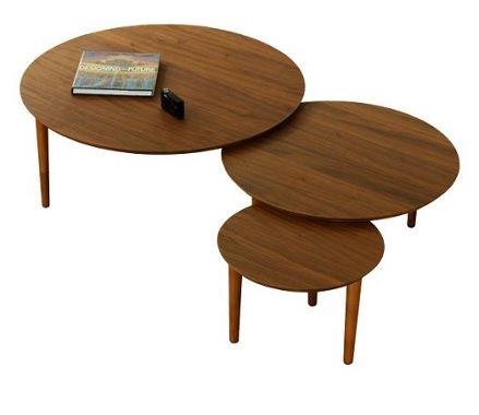 スライド式の円形テーブル