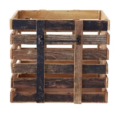 古材を使った収納ボックス