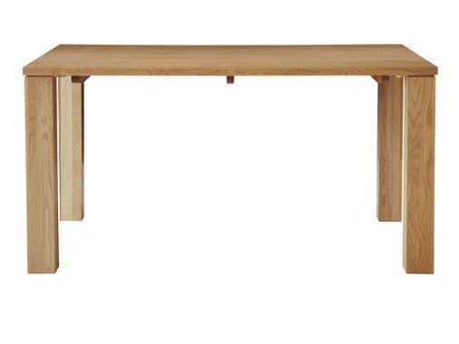 節無しオークの大型テーブル