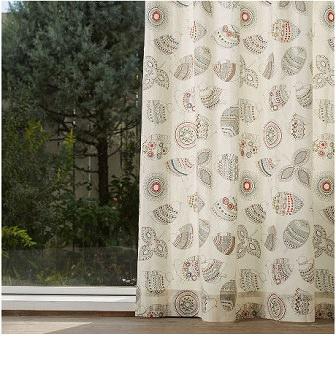 小鳥のカフェ風カーテン