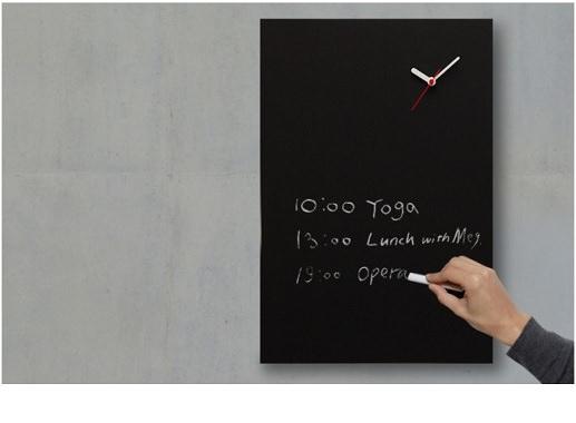 黒板デザイン時計
