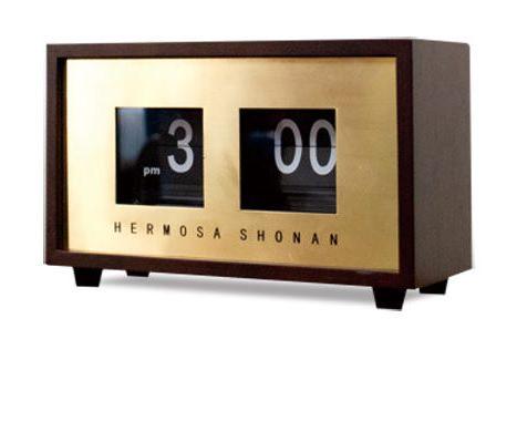 めくり系デザイン時計