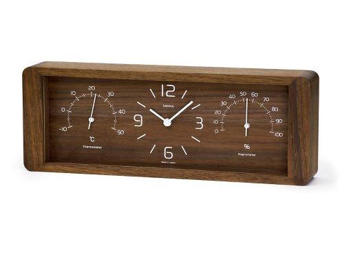 温度計と湿度計のデザイン時計