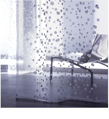 雪刺繍レースカーテン
