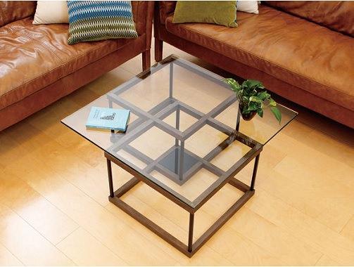 スクエアガラステーブル