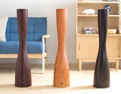 木肌デザインの加湿器