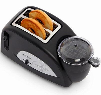 卵も同時に調理可能なポップアップトースター
