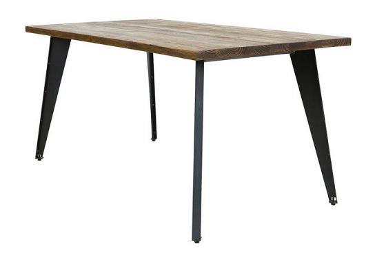 斜め脚のダイニングテーブル