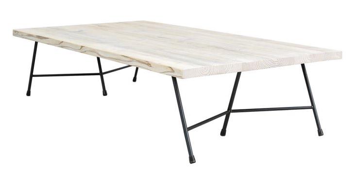 組立簡単な無垢古材ローテーブル
