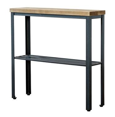 棚付き古材サイドテーブル