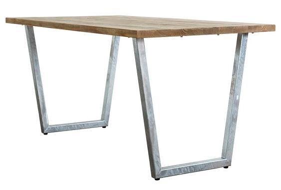 スタイリッシュなガルバナイズド系ダイニングテーブル
